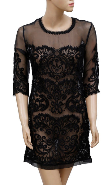 Yoana Baraschi Anthropologie Embroidered Tunic Dress S 6