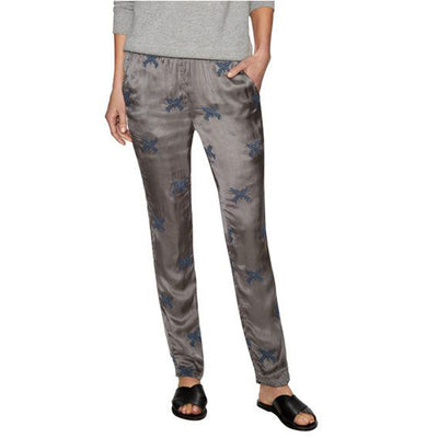Zadig & Voltaire Pale Brod Embroidered Gray Skinny Pants S