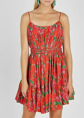 Rhode Resort Nala Floral Printed Red Mini Dress XS