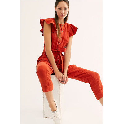 Free People Louis Jumpsuit Dress S