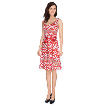 Desigual Printed Mini Dress Embroidered Holiday Red White S