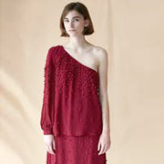 Hoss Intropia Anthropologie Beaded Top & Skirt Set M