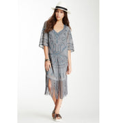 Free People Livin' the Fringe Life Shift Mini Dress XS