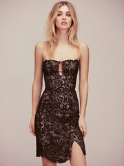 Free People Black Catalina Party BodyCon Dress  L