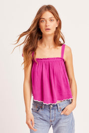 Free People Intimately All Ways Embroidered Cami Tank Top