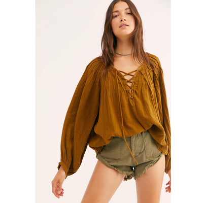 Free People We The Free Cloud Breaker Tunic Top S