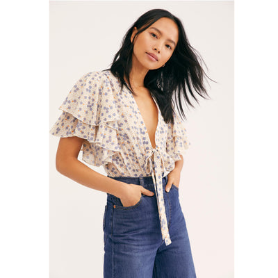 Intimately Free People Call Me Later Printed Bodysuit M