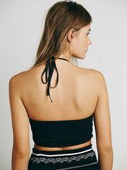 Free People FP One Mirror Halter Bralette Top S