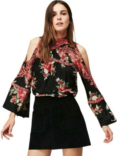 Free People Bainbridge Printed Blouse Top S