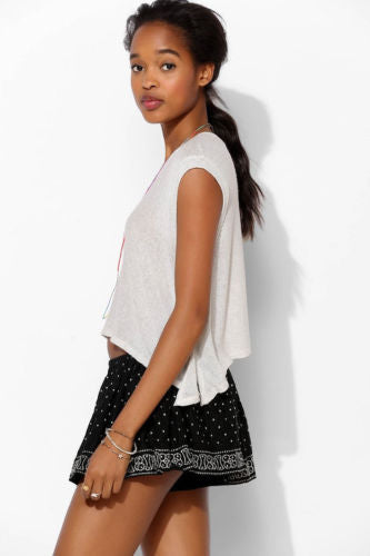 Ecote Urban Outfitters Starry Night Swing Embroidered Shorts M
