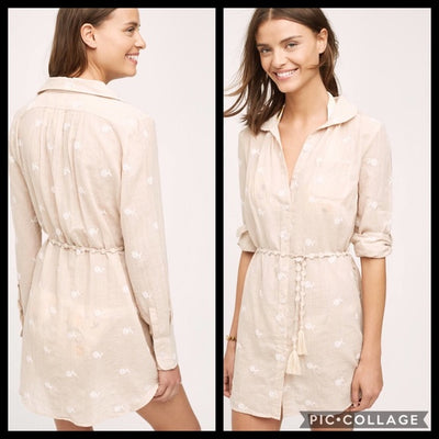 Mermaid Anthropologie Shoreward Shirt Tunic Dress