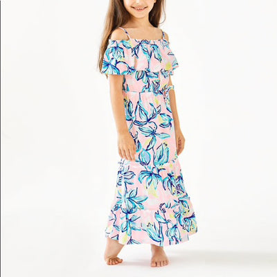 Lilly Pulitzer Kids Girls Seraphina Off-The-Shoulder Dress