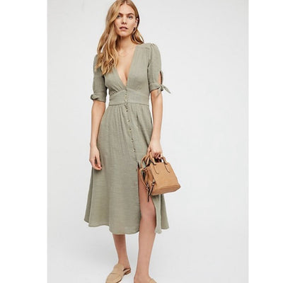 Free People Love Of My Life Midi Dress XS