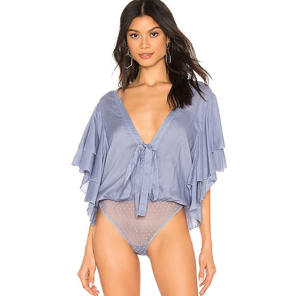Intimately Free People Call Me Later Solid Bodysuit Top S