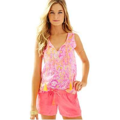 Lilly Pulitzer Lauren Sleeveless Blouse Top