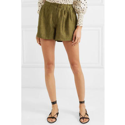 RHODE Resort Natty Silk Canvas Shorts S