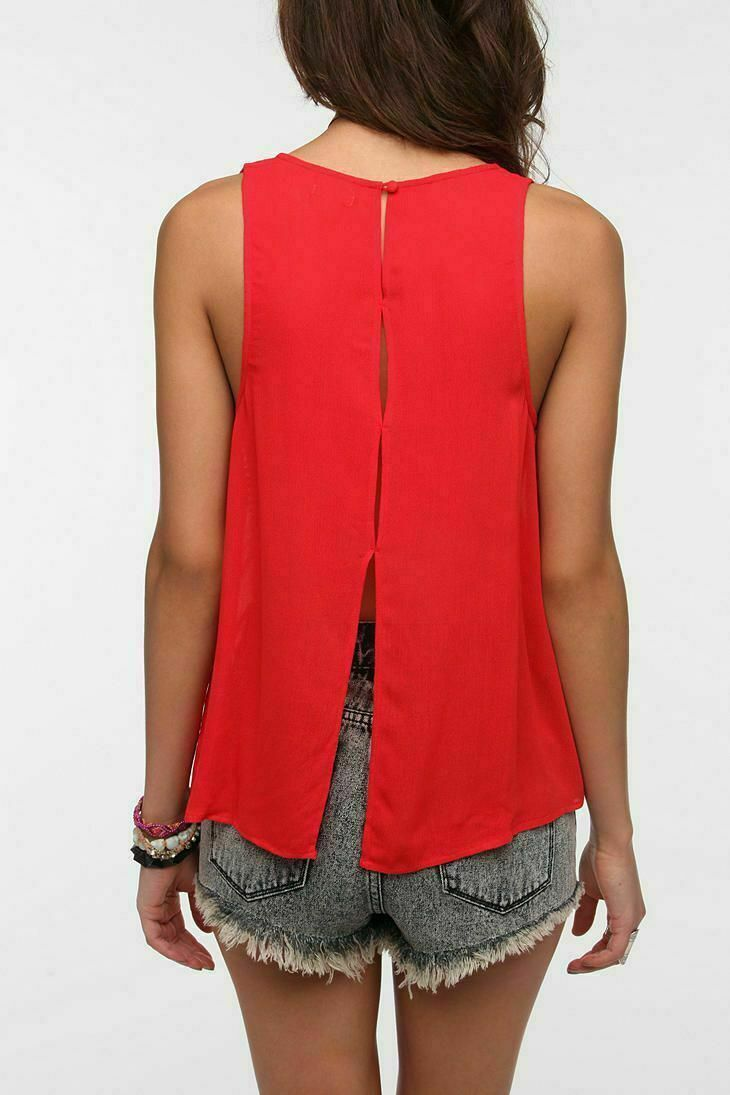 Ecote Urban Outfitters Split Back Tank Top L