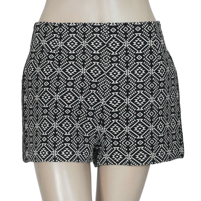 Ecote Urban Outfitters Printed Embroidered Black Shorts Small S