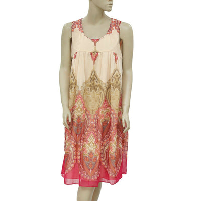 Taillissime La Redoute Paisley Printed Sleeveless Summer Tunic Dress XL