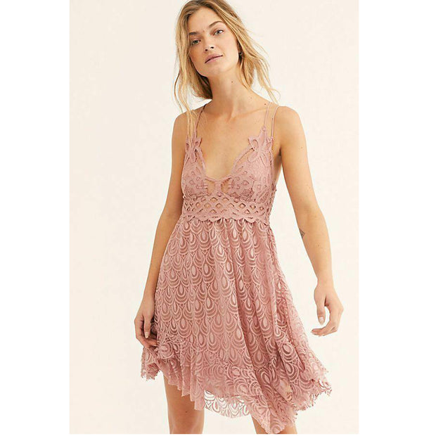 "Free People FP One ""Adella"" Burnout Slip Dress"