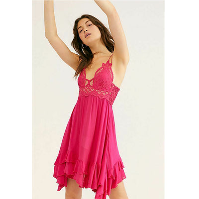 "Free People FP One ""Adella"" Slip Pink Mini Dress M"