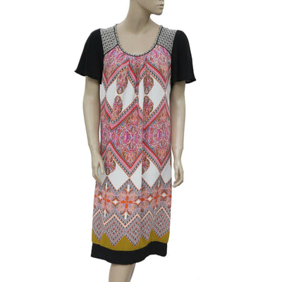 Taillissime La Redoute Colorful Printed Short Sleeve Dress Small S