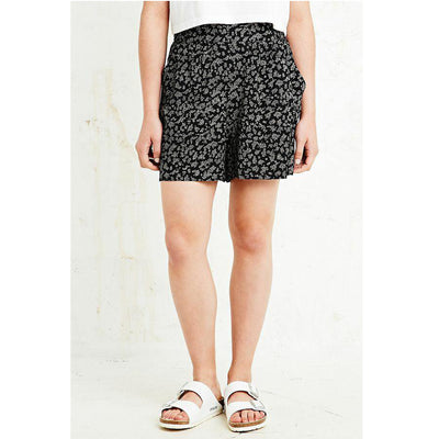 Pins & Needles Urban Outfitters Ditsy Printed Shorts Smocked Black M