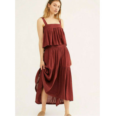 Free People Marabella Skirt Co-Ord Crop Top Set XS
