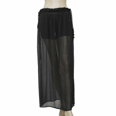 Out From Under Urban Outfitter Black Sheer Beach Maxi Skirt Large L