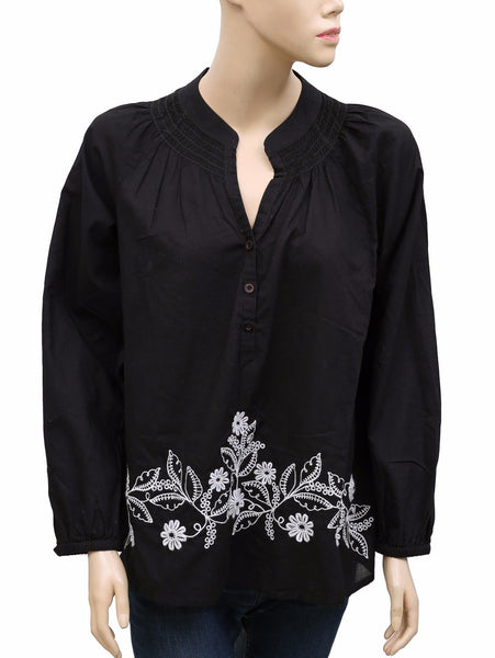 Lilly Pulitzer Floral Embroidered Blouse Top M