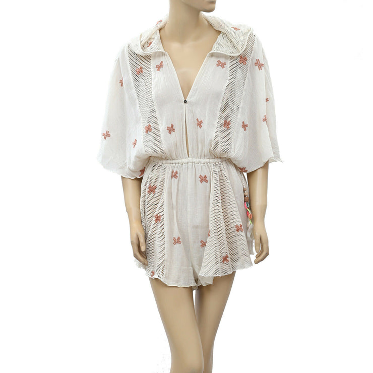 Free People Intimately Shoreline Hooded Romper  S