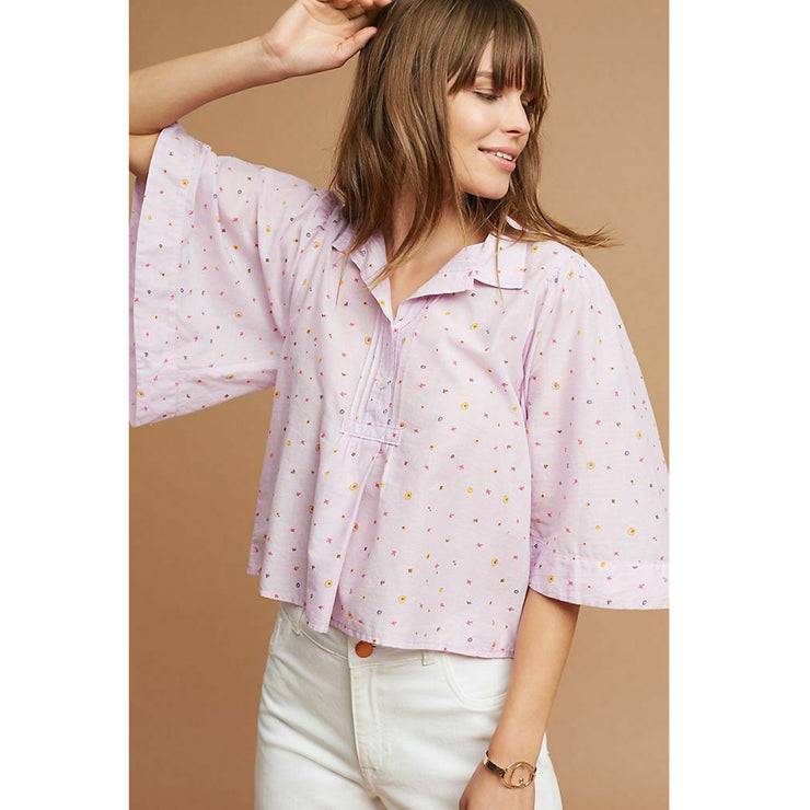 Maeve Anthropologie Eliot Popover Blouse Top