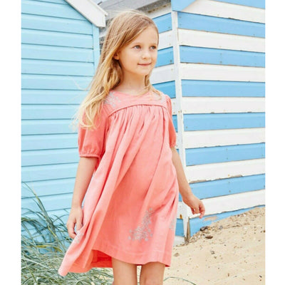 Bonpoint Kids Girls Peach Mini Dress 6 Year