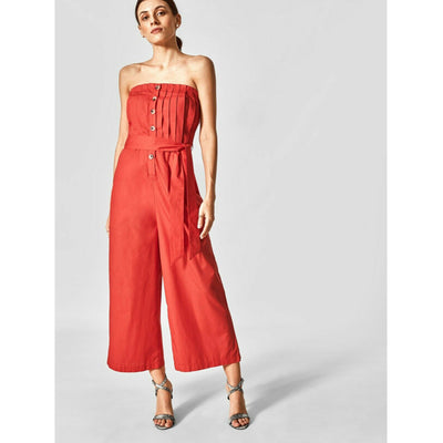 The Label Life Scarlet Tube Jumpsuit Dress L