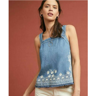 Meadow Rue Anthropologie Denim Halter Top