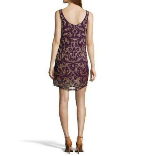 Yoana Baraschi Anthropologie Chiffon Baroque Mini Dress Beaded Boho XS