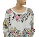Free People Go On Get Floral Pullover Top Large L