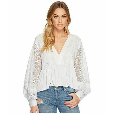 Free People Boogie All Night Blouse Top M