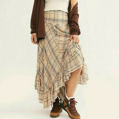 Free People FP One Gabrielle tiered Midi Skirt Striped