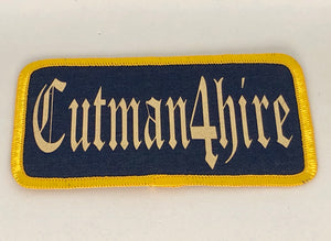 Cutman4Hire Biker Patch