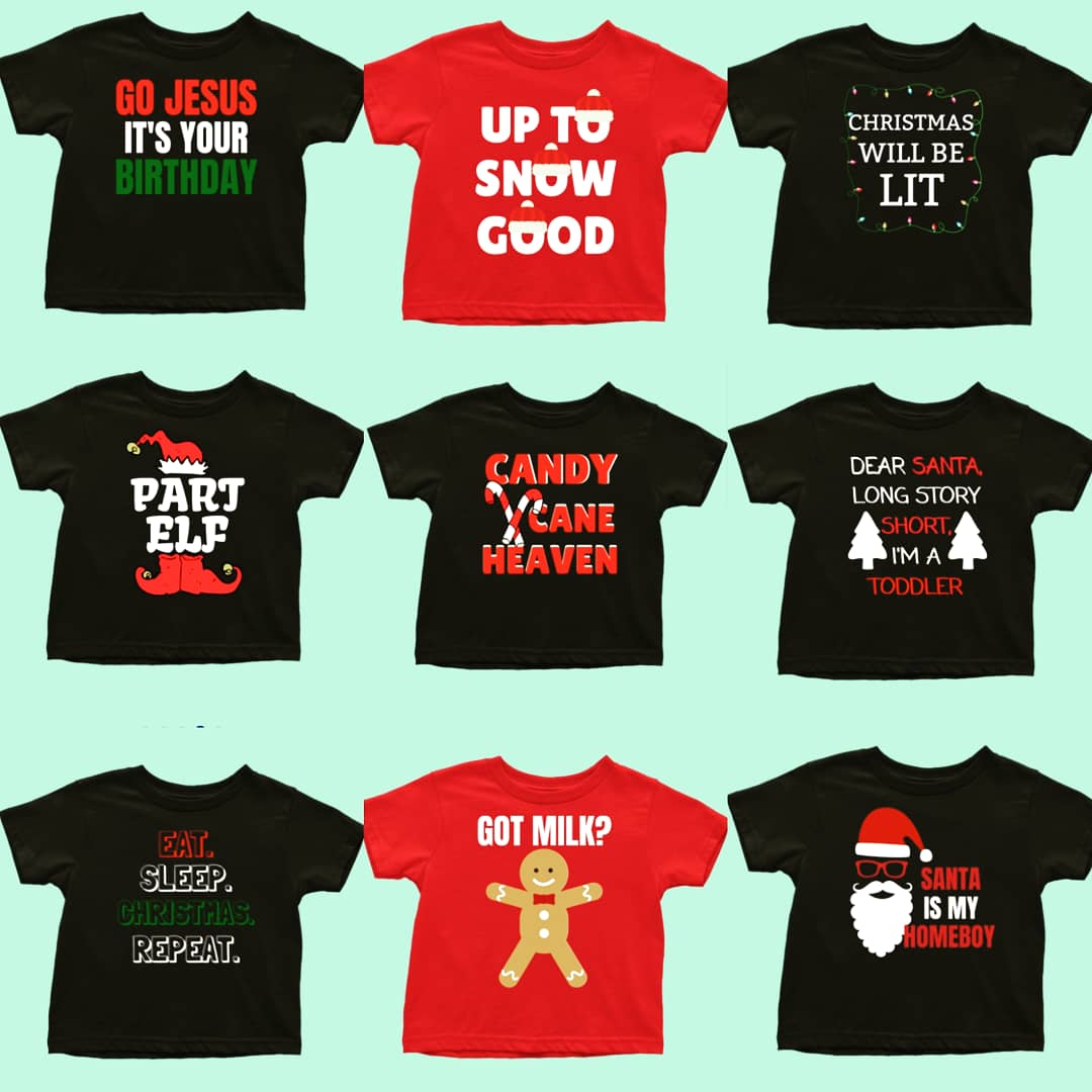 ROCKIN' AROUND IN OUR CHRISTMAS TEES