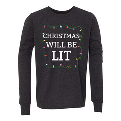 LIT CHRISTMAS Youth Jersey Long Sleeve Tee