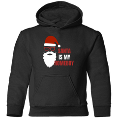 SANTA IS MY HOMEBOY - TODDLER HOODIE