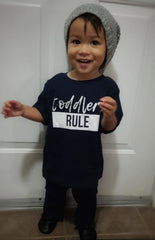 TODDLERS RULE -NAVY BLUE TEE
