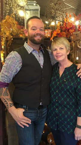 Gary Chapman and Sharon James, Shop Owners, Pine Cone Gift Shoppe, N. Canton, OH