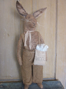 Alex Grungy Primitive Free Standing Bunny