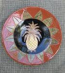 Stunning Redware Plate with Pineapple
