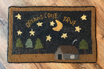 Dreams Come True Primitive Hooked Rug by Marilyn Willmore