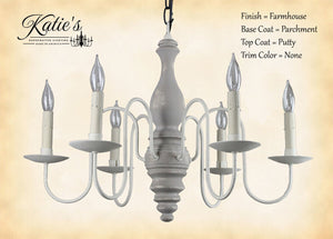Anderson House Chandelier - Parchment/Putty
