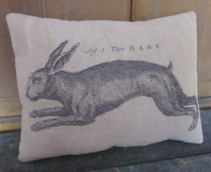 Running Hare Pillow